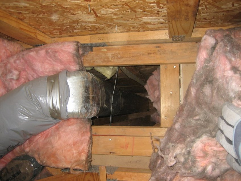 Duct Chase From Attic Ted S Energy Tips