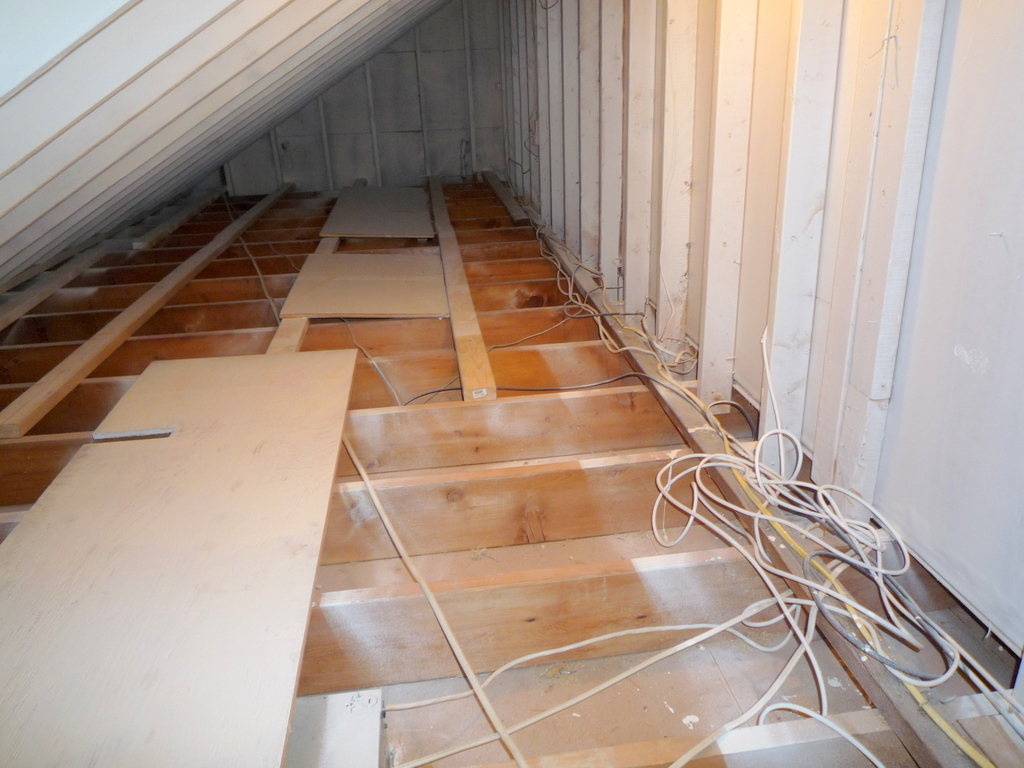 attic door insulation ideas - Walk in closet behind a knee wall