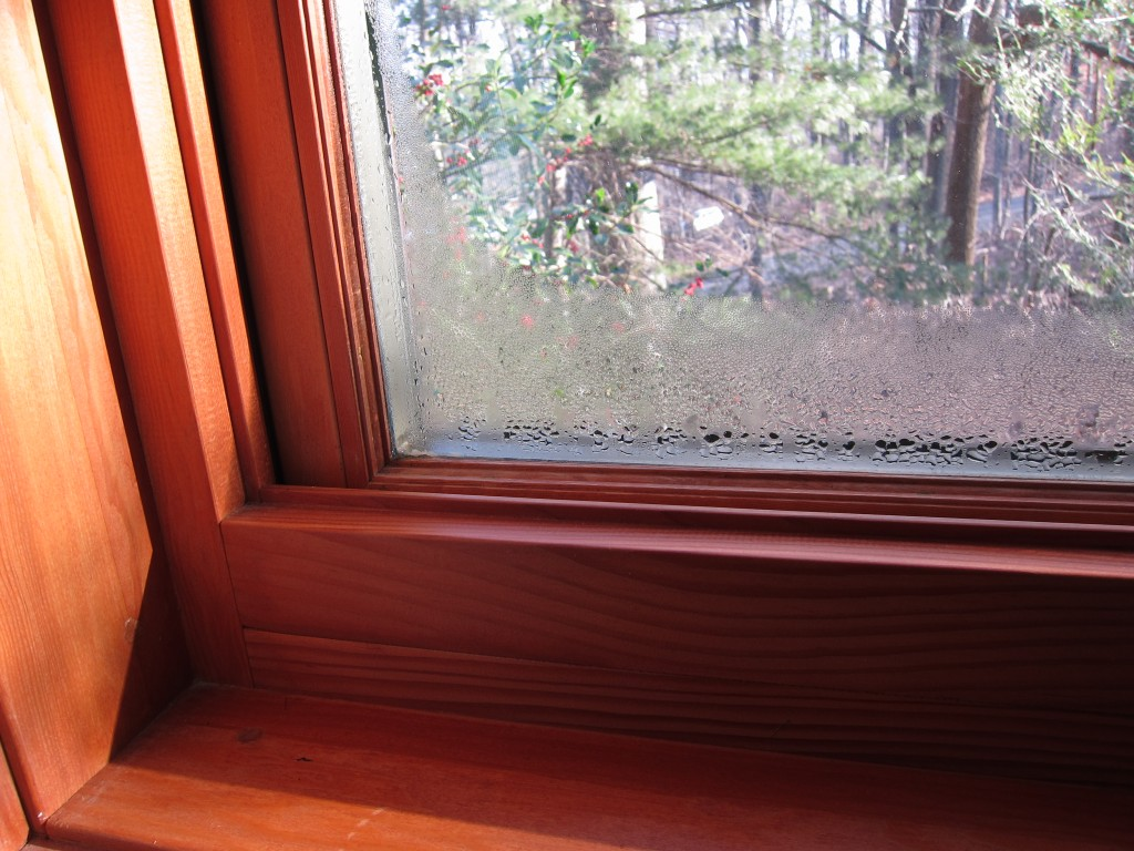Condensation on wooden windows is more problematic