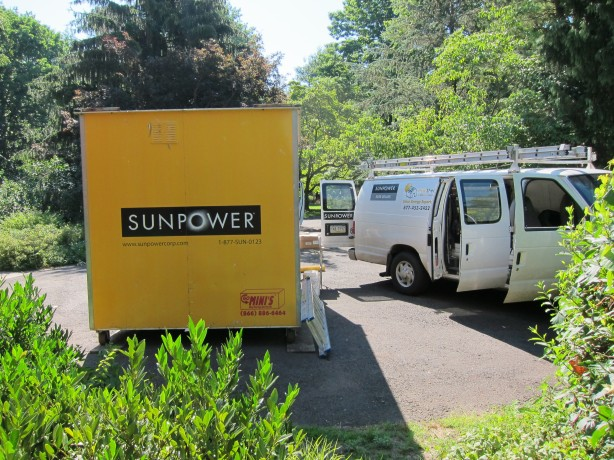 "The Sunpower ""POD"" full of solar panels"