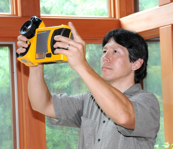 Here's Ted capturing a thermal image