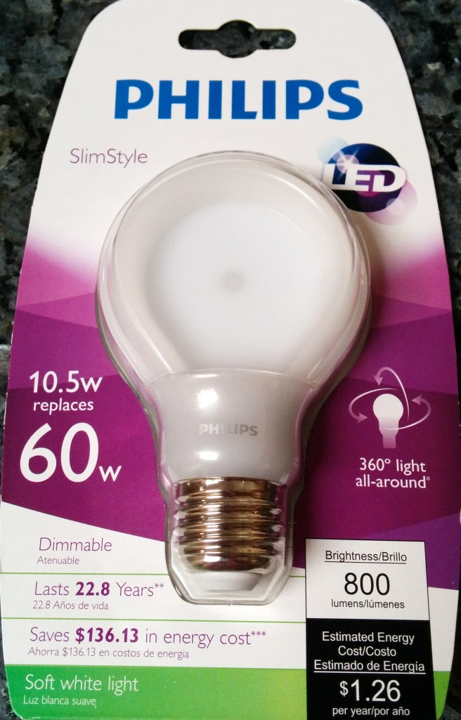 Philips 60w Dimmable LED bulb