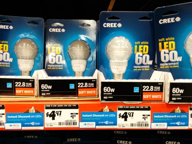 CREE LED bulbs on sale